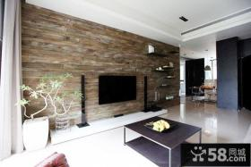 简约装修风格小户型客厅电视背景墙图片
