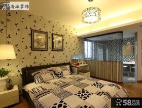 简约风格卧室壁纸背景墙装修效果图