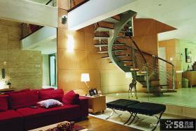 复式客厅楼梯装修效果图