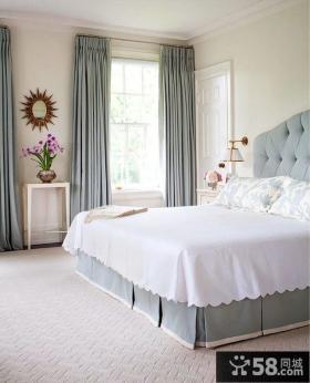 简欧风格卧室布艺窗帘效果图片