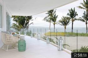 简约东南亚风格露天阳台图片