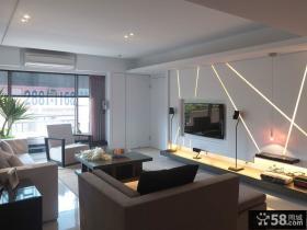 2014现代家装设计客厅电视背景墙图片