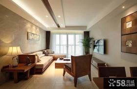 东南亚设计客厅吊顶欣赏图