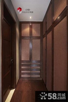 玄关实木鞋柜装饰效果图片