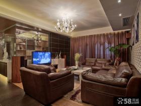 简约三居客厅电视背景墙效果图