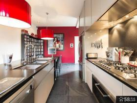 简欧风格厨房装修图片大全欣赏