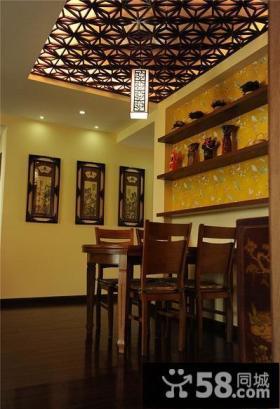 雅致复古中式餐厅设计装饰