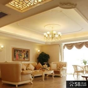 欧式风格家装客厅吊顶效果图大全