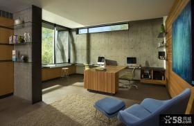美式风格样板间书房效果图