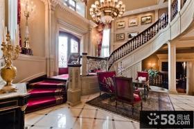 美式奢华的复式楼装修效果图大全2014图片