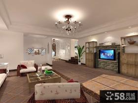 客厅电视墙装修设计效果图大全2013图片