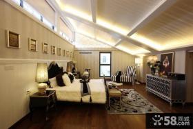 欧式家庭设计阁楼卧室效果图