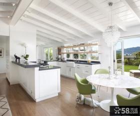 美式家具风格厨房整体橱柜图片