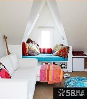 阁楼带飘窗卧室设计