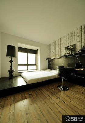 家居卧室榻榻米床装修效果图