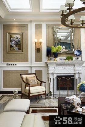 美式客厅灯样板间效果图