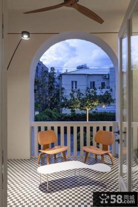 现代北欧风格阳台图片