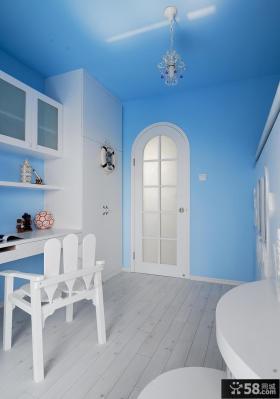简约复式家装设计书房效果图片