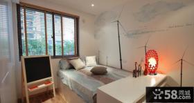 17万打造清新简欧风格婚房小户型卧室装修效果图大全2012图片