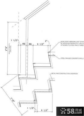 别墅楼梯设计图纸