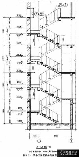 旋转楼梯平面图
