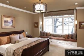 20平米欧式卧室飘窗装修效果图