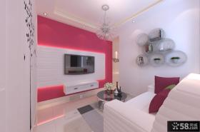 2013优质简约小客厅电视背景墙装修效果图