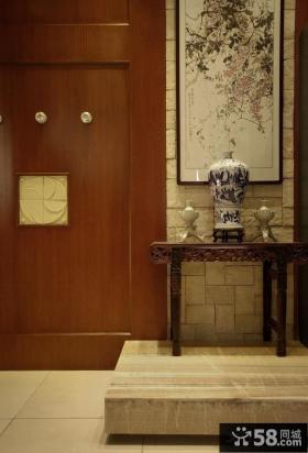 中式风格玄关墙装饰画