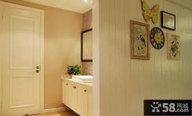 卫生间洗手区隔断墙装修设计图片