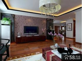 新中式客厅电视背景墙装修效果图大全2013图片欣赏