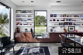 现代美式风格书房装修图片
