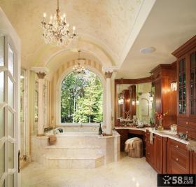 豪宅别墅室内卫生间装潢图片
