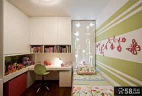 小户型儿童房卧室书桌装饰设计
