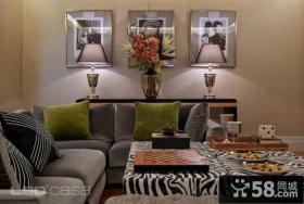 后现代风格沙发背景墙设计图