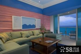 2014临海别墅客厅沙发背景墙装修效果图