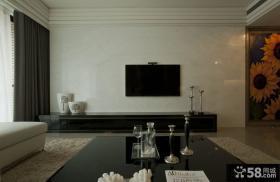 简单装修客厅电视背景墙图片