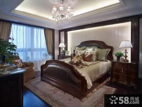 美式风格高档卧室装修图2014