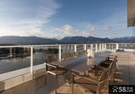 温哥华300平米豪华别墅阳台装修效果图大全2012图片