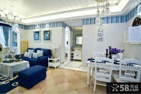 地中海风格客厅餐厅装修效果图欣赏