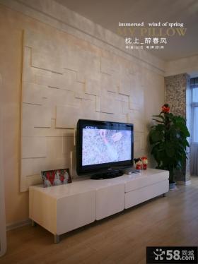 简约时尚电视背景墙设计效果图大全