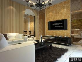 客厅壁纸电视电视背景墙