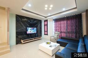 现代简约风格家居客厅设计装修效果图
