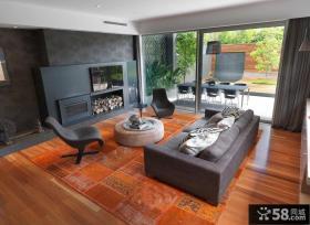 现代室内家装客厅电视背景墙效果图
