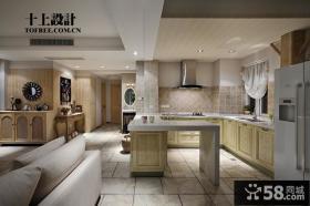 欧式风格开放式厨房装饰效果图