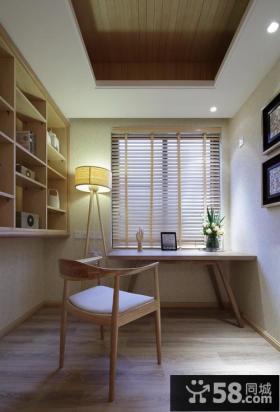简约中式设计书房室内效果图