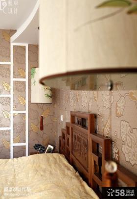 中式卧室墙纸图片大全