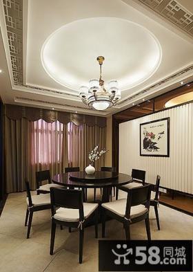新古典中式餐厅设计大全