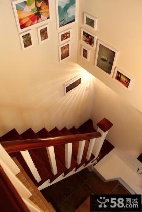 楼梯间照片墙效果图