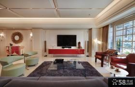 新古典风格别墅室内客厅效果图片