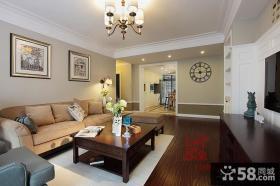 现代美式风格客厅装饰画效果图